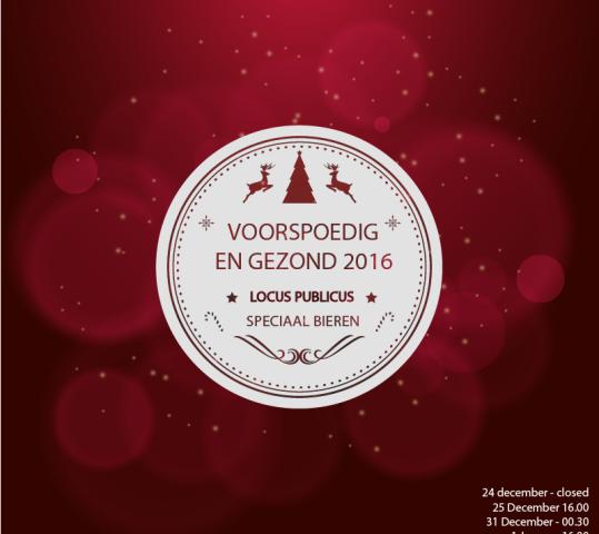 Kerst en Oudjaar 2016