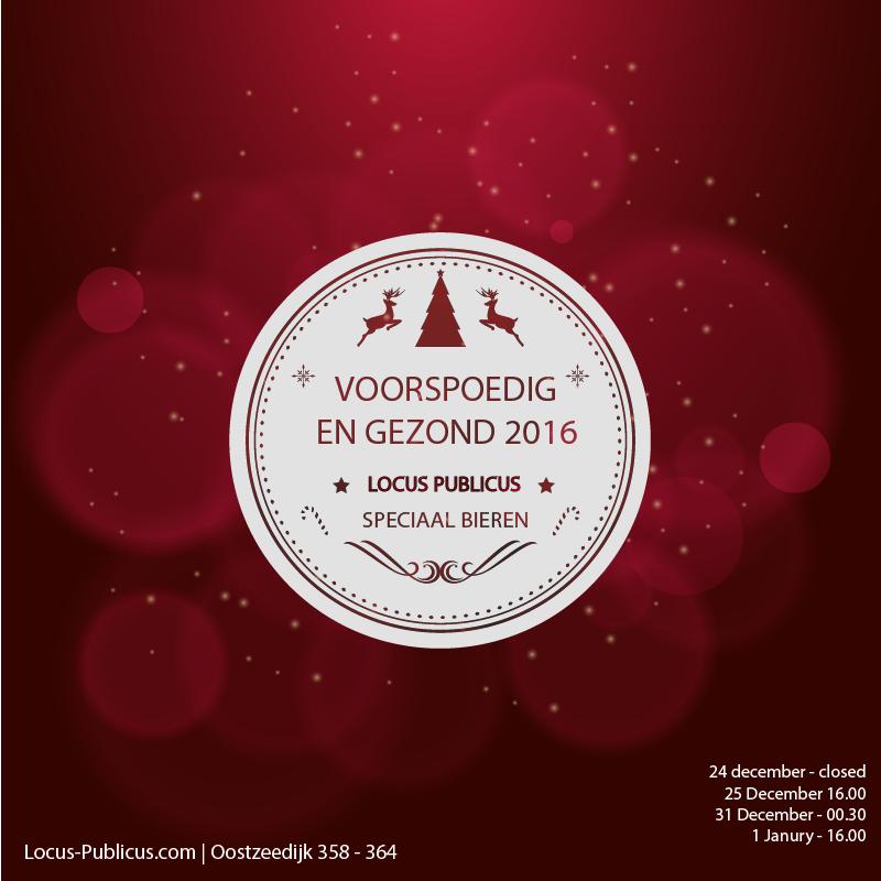 Kerst en Oudjaar Locus Publicus 2016